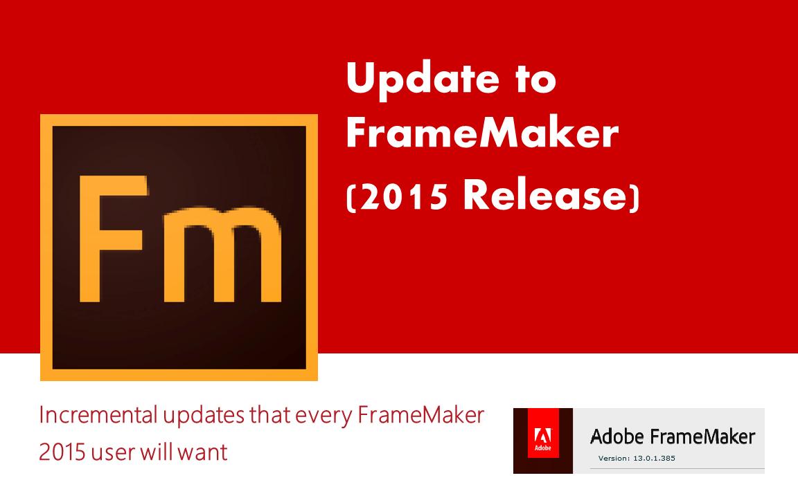 adobe framemaker 2015 windows 10